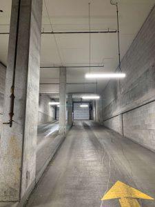 Image of parking garage ramp after led light fixture upgrade